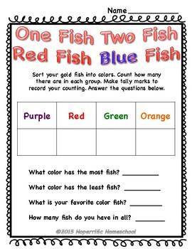 Dr. Seuss One Fish Two Fish Unit #2
