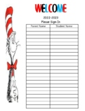 Dr.  Seuss Parent Sign In Sheet