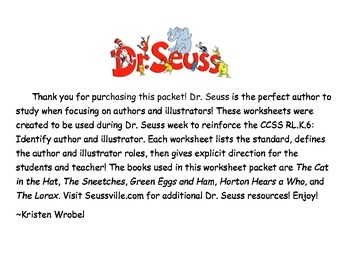 Dr. Seuss Packet