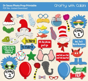 Story Book Children Photo Booth Prop Printable - 41 ready