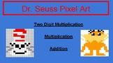 Dr. Seuss Pixel Art- Math