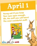 Dr. Seuss Poem a day every day in April