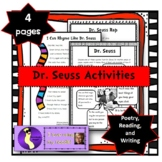 Dr. Seuss Poetry and Writing Activities Read Across Americ