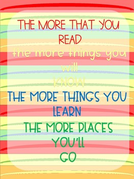 Dr. Seuss / Positive Mindset Poster Printables