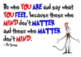 Dr Seuss Poster - Be Who You Are