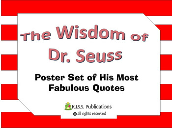 Dr.Seuss Poster Bundle - Quotations and Facts by the Number
