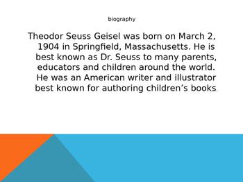 Dr. Seuss PowerPoint