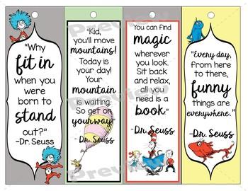 Dr. Seuss Printable Bookmarks