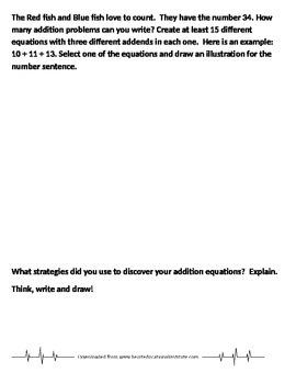 Dr. Seuss Problem Solving Pages