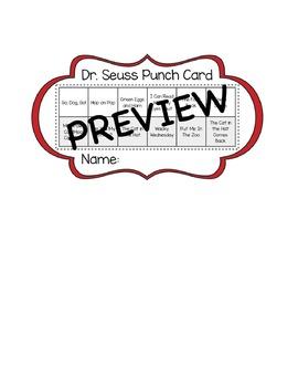 Dr. Seuss Punch Card