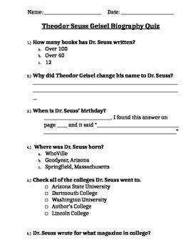 Dr. Seuss Quiz
