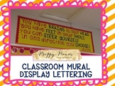 Dr Seuss Quote Classroom Mural Lettering