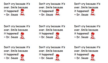 Dr. Seuss Quote - Good Bye Present