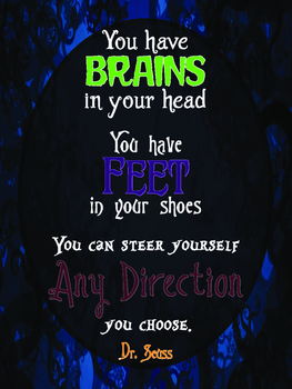 Dr. Seuss Quote Poster