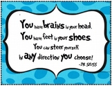 """Dr. Seuss Quote - Poster for Classroom Wall from """"Oh, the"""
