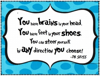 Dr. Seuss Quote - Poster for Classroom Wall... by Sunshine ...