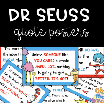 Dr. Seuss Quote Posters