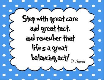 Dr Seuss Quotes | 5 Different Colors Dr Seuss Quote Decor By The Comprehensive