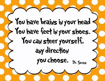 5 Different colors - Dr. Seuss Quote decor