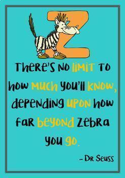 Dr. Seuss Motivational Quotes Posters Volume I