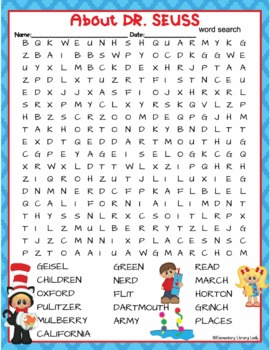 Rare image intended for dr seuss word search printable