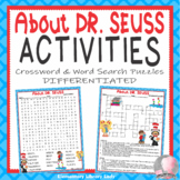 Dr. Seuss Activities Read Across America Crossword Puzzle and Word Searches