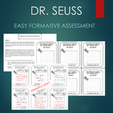 Dr. Seuss - Read Across America Day Activity - ENTRANCE AND EXIT SLIP