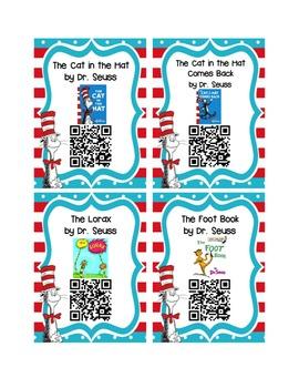 Listen to Reading QR Code Cards - Dr Seuss UPDATED