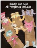 Dr Seuss Read across america activities puppets cat lorax