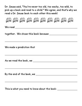 Dr. Seuss Read with Someone Activity