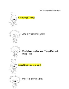 Dr. Seuss Reader's Theater: Oh The Things We Can Play