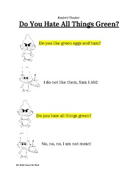 Dr. Seuss Reader's Theater: Sam I Am and Grinch