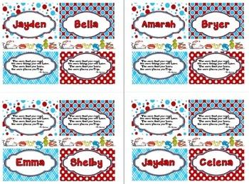 Dr. Seuss Reading Bookmarks FREEBIE