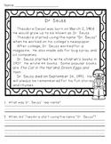 Dr. Seuss Reading Comprehension Passage