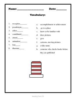 Dr. Seuss Reading Passage and Activities