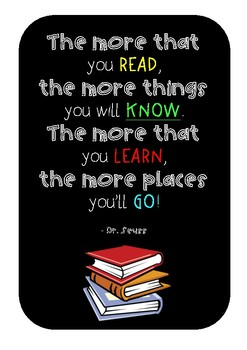 Dr. Seuss Reading Poster
