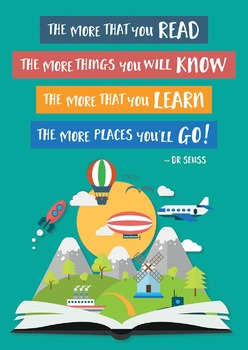 Dr Seuss Reading Quote Poster - The More That You Read