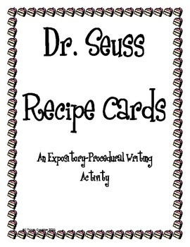 Dr. Seuss Recipe Cards