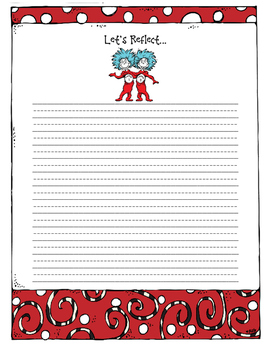 Dr. Seuss Reflection Freebie!