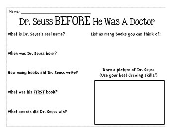 Dr. Seuss Research Activity