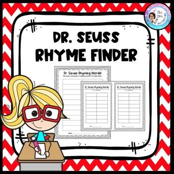 Dr. Seuss Rhyme Activity