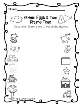 Rhyme-Dr. Seuss Green Eggs and Ham