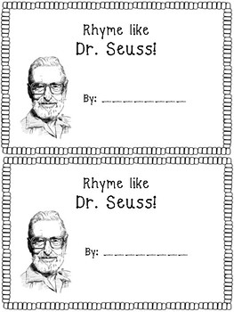 Dr. Seuss Rhyming Book