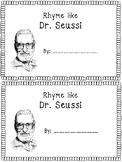Dr. Seuss Rhyming Book