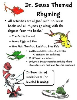 photo relating to Dr.seuss Fish Printable named Dr. Seuss Rhyming Worksheets Dr. Seuss Rhymes Dr. Seuss Actions Dr. Sueuss