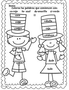 Read Across America SPANISH reading, writing and Math packet