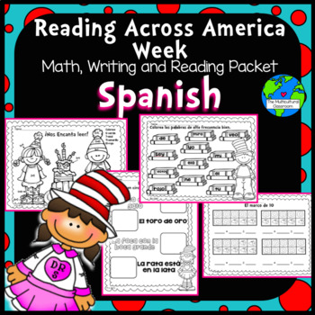Read Across America SPANISH reading, writing and Math pack