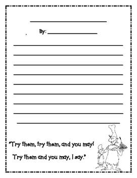 Dr. Seuss Sam I Am Green Eggs and Ham Star Student Book Buddy