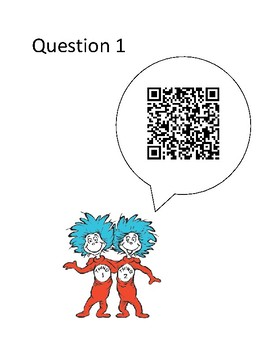 Dr. Seuss - QR Code Scavenger Hunt - Book Study