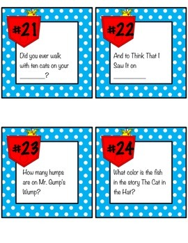 Dr. Seuss Scoot Game